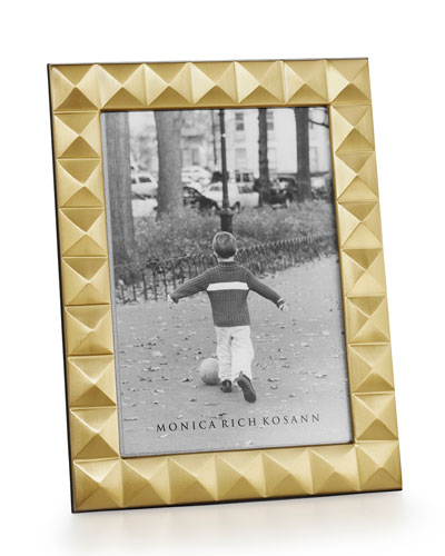 Brass Pyramid 5 x 7 Picture Frame