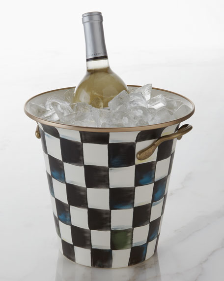 MacKenzie-Childs Courtly Check Enamel Wine Cooler
