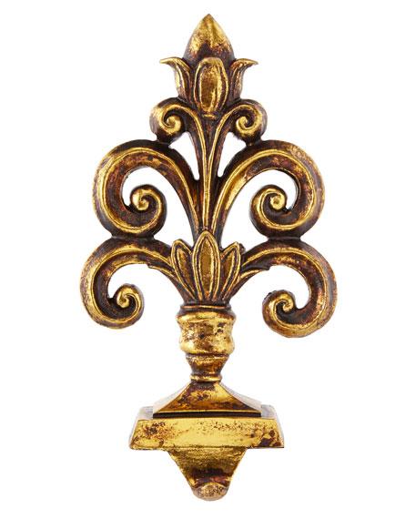 Baroque Golden Fleurette Stocking Hook