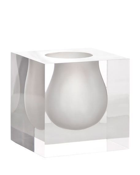 Jonathan Adler White Bel Air Mini Scoop Vase