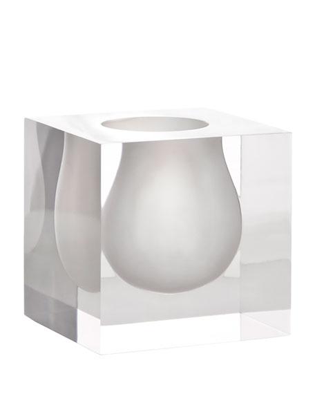 Jonathan adler white bel air mini scoop vase for Air vase