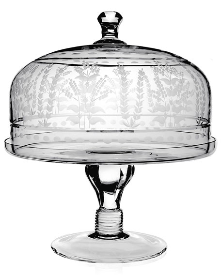 """Portia 12"""" Cake Stand with Dome"""