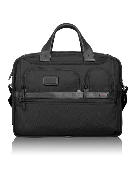 Alpha 2 Black Expandable Organizer Laptop Brief