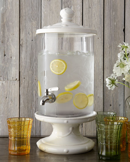 Berry & Thread Whitewash Beverage Dispenser