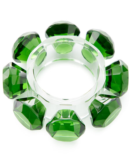 Diamond Ray Napkin Rings, Set of 4