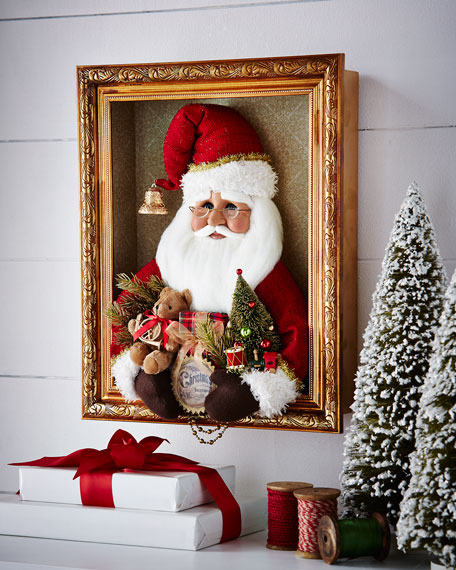 Red Vintage Santa Shadowbox