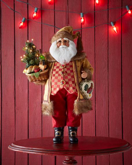 Tuscan Santa with Lighted Tree