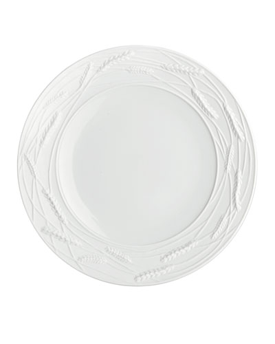 Wheat Porcelain Accent Plate  White