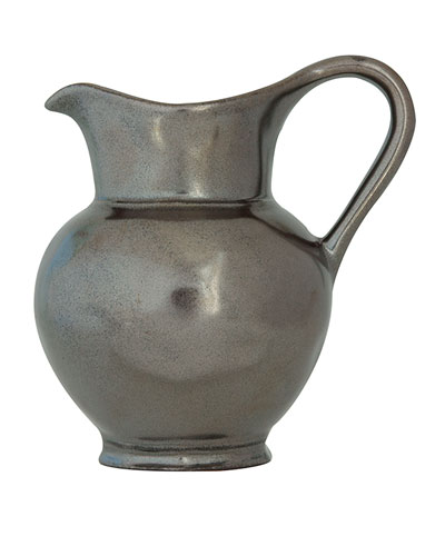 Pewter Stoneware Pitcher