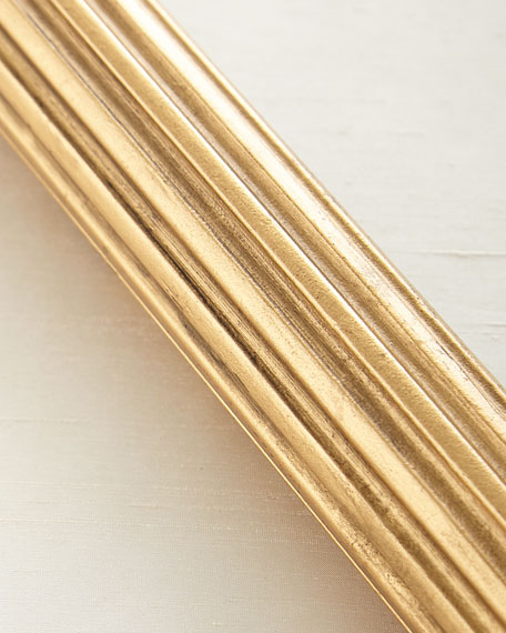 4'L Fluted Wood Drapery Rod