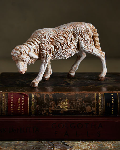 Sheep with Lowered Head Nativity Figurine