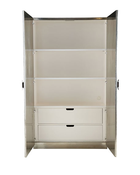 Barcelona Silver Wrapped Armoire