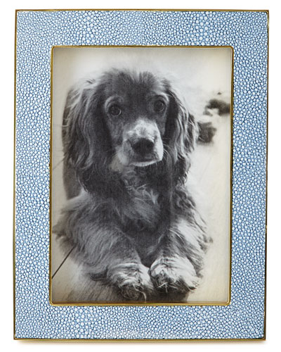 Blue Shagreen 5 x 7 Picture Frame
