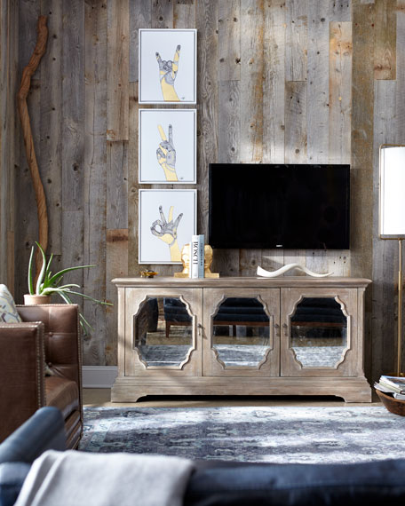 Griffith Mirrored Media Console