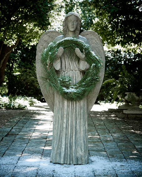 Large Angel Wreath Holder
