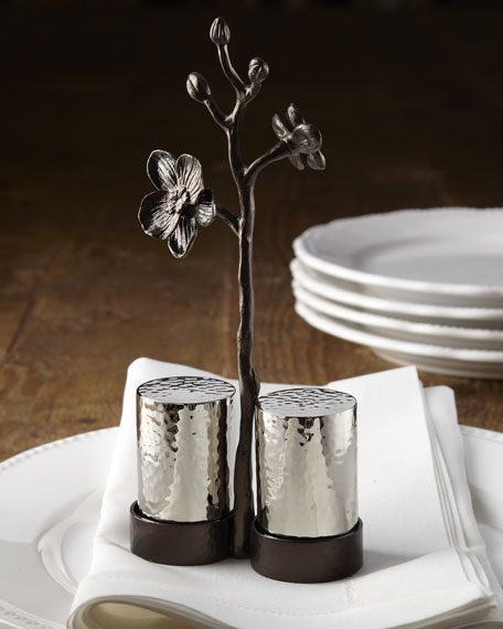 """Black Orchid"" Salt & Pepper Set"