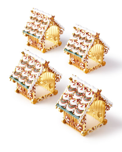 Gingerbread Napkin Rings, Set of 4