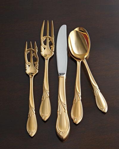 20-Piece 24-Kt. Gold-Plated Cache Flatware Service