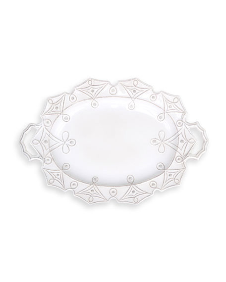 Juliska Jardins du Monde Whitewash Turkey Platter