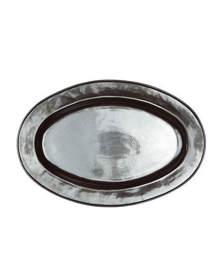 "Pewter Stoneware 21"" Oval Platter"