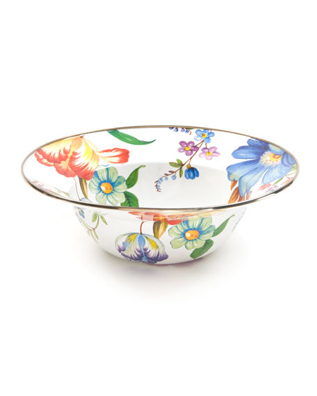 MacKenzie-Childs Flower Market Serving Bowl