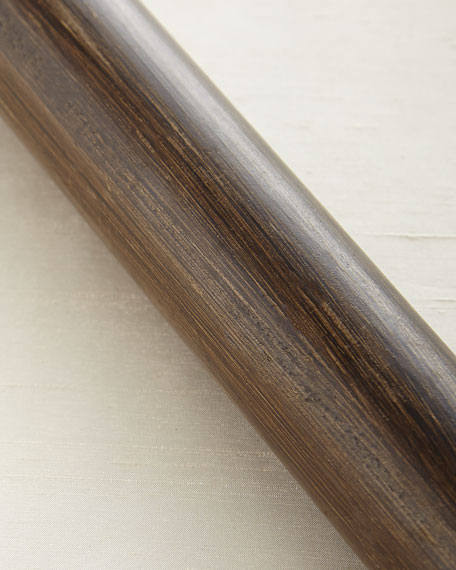 4'L Smooth Wood Drapery Rod