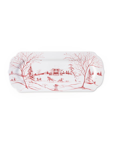 Juliska Ruby Winter Holiday Hostess Tray