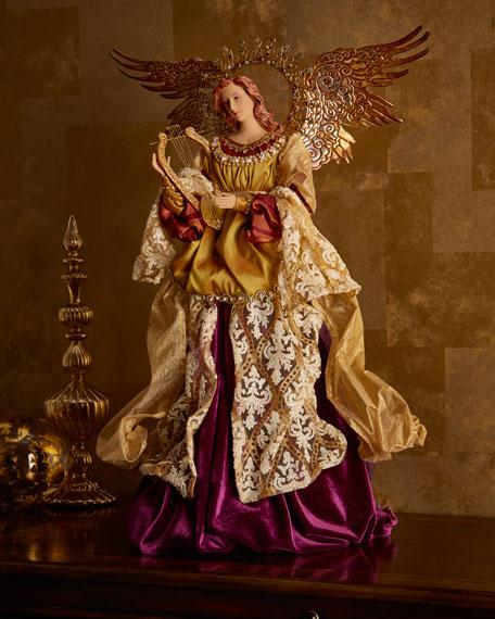 Angel with Harp Figure