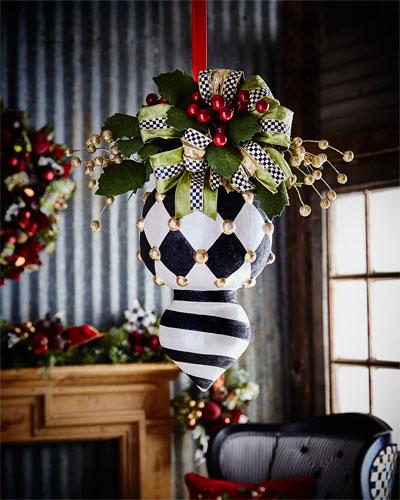 Deck the Halls Double Christmas Ornament