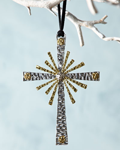 Forged Cross Christmas Ornament
