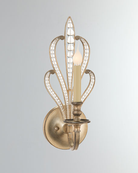 Beaded Crystal 1-Light Sconce