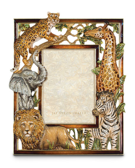 Jay Strongwater Jungle Animal Picture Frame
