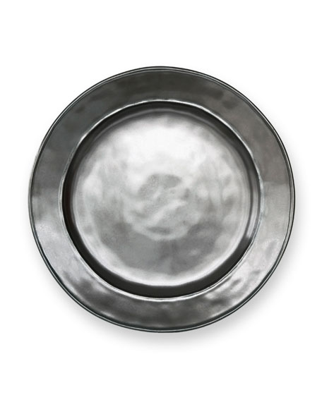 """Pewter"" Dinner Plate"