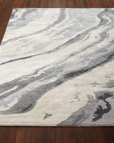 Gray Marble Rug  3'3 x 5'3