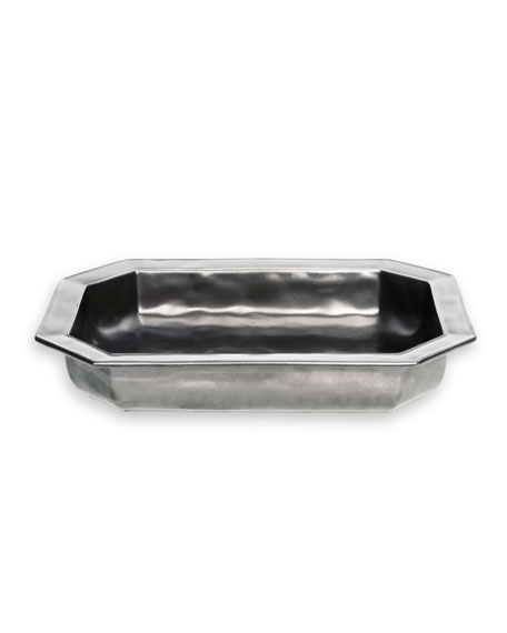 Juliska Pewter Stoneware Rectangular Baker