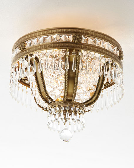 Regal Hand-Cut 6-Light Semi-Flush Ceiling Fixture