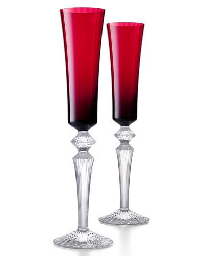 Mille Nuits Red Flutissimos  Set of 2