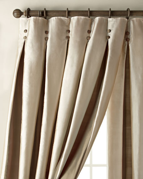 "Each 108""L Inverted Pleat Curtain"