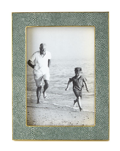 Emerald Faux-Shagreen 4 x 6 Picture Frame