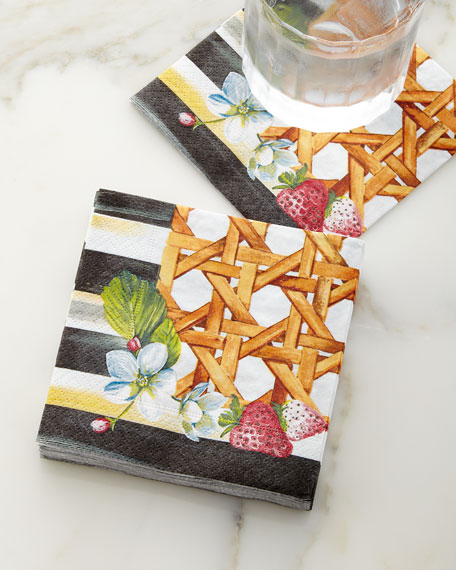 Berries & Blossoms Cocktail Napkins, Set of 20