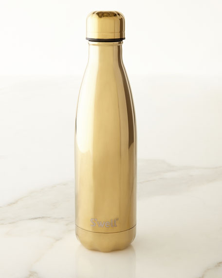 Yellow-Gold Metallic 17-oz. Reusable Bottle