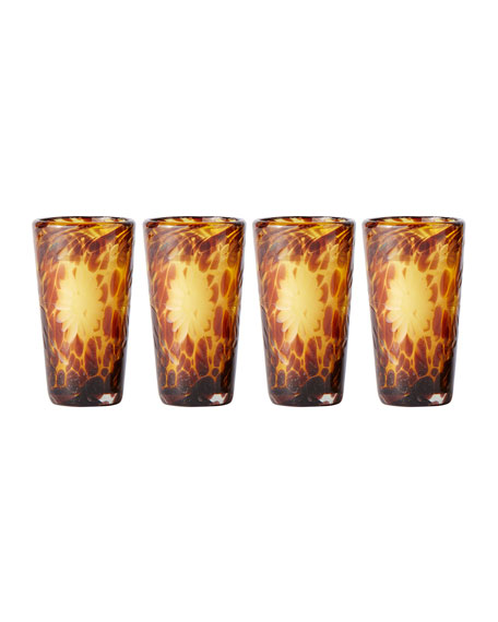 El Jefe Tall Shot Glasses, Set of 4