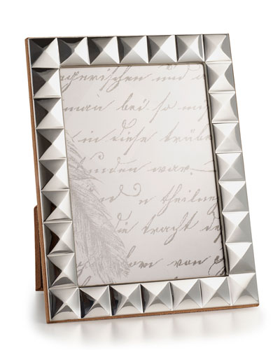 Sterling Silver Pyramid 5 x 7 Picture Frame