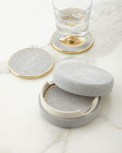 Dove Shagreen Coasters