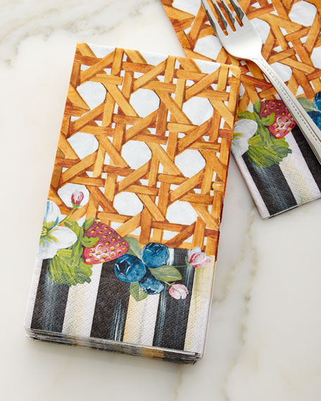 Berries & Blossoms Guest Napkins, Set of 15