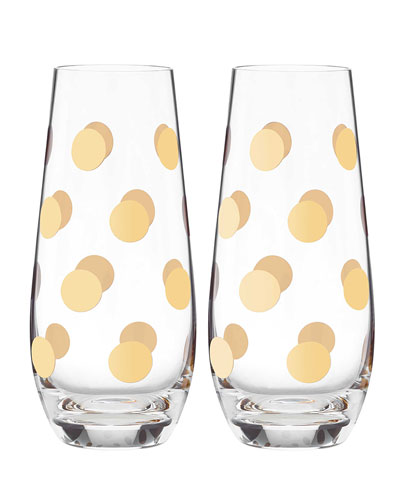 Pearl Place Stemless Champagne Glasses  Set of 2