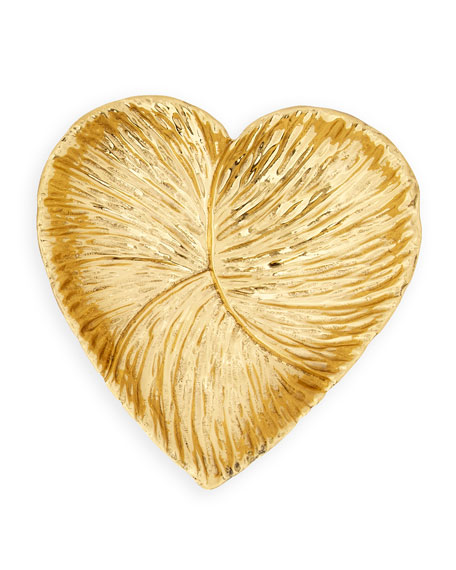 Large Brass Heart Dish