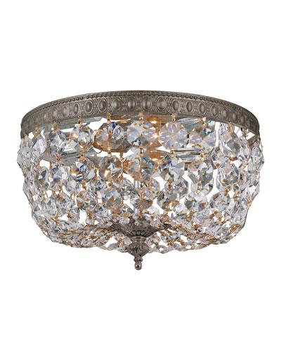 Prism Crystal 2-Light Flush-Mount Ceiling Fixture
