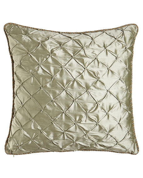 "Contessa Faux Knotted Pillow, 18""Sq."