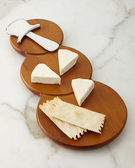 Snowman Cheese Board